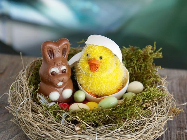 Kurczak Wielkanocny Piekny Symbol Wiosennych Swiat